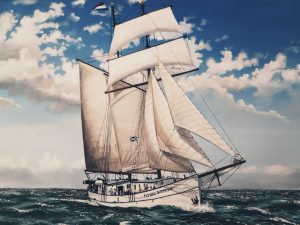 Flying Dutchman sailing