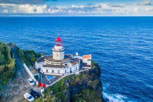 Azoren - Blick vom Leuchtturm auf den Atlantik