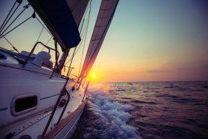 Sonnenuntergang voraus Blauwasser
