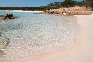 Sardinien La Maddalena Archipel rosa Strand