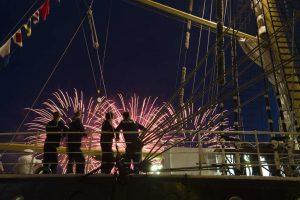 Tall Ships Race Feuerwerk