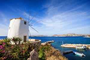 Kykladen Windmühle auf Paros