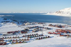 Spitzbergen Longyearbyen Panoramasicht