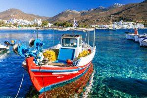Kykladen im Hafen von Amorgos