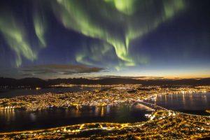 Norwegen-Lofoten - Nordlicht über Tromsø