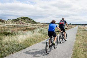 Fahrradweg in den Dünen Dänemark