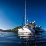 Karibik Katamaran vor Anker